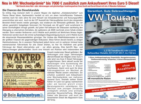 Anzeige Wechselprämie für Euro-5-Fahrer