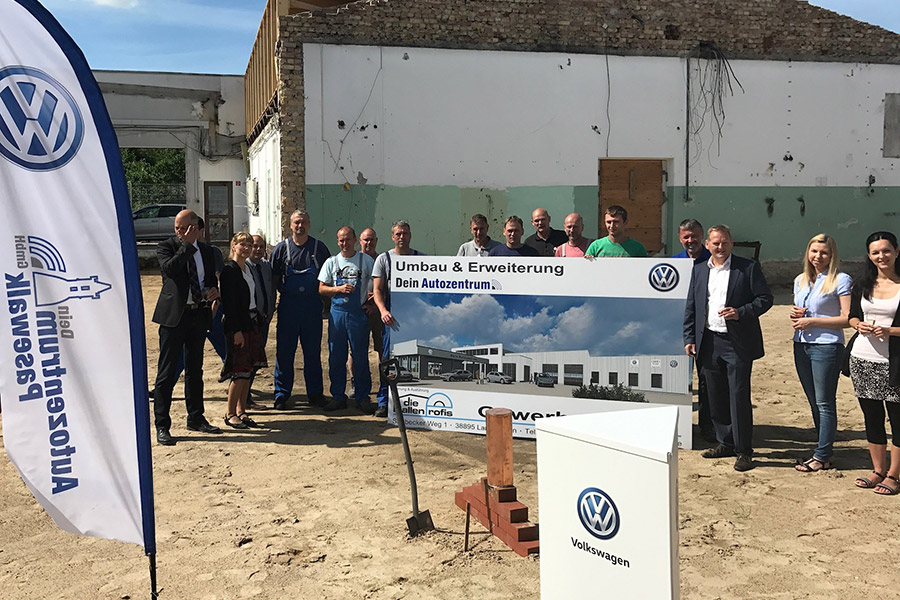 Umbau und Erweiterung des Autohauses in Pasewalk