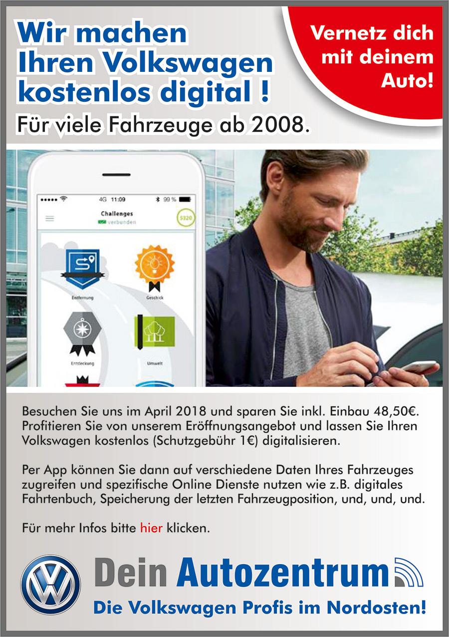VW Connect - Digitialisierung Ihres Volkswagens