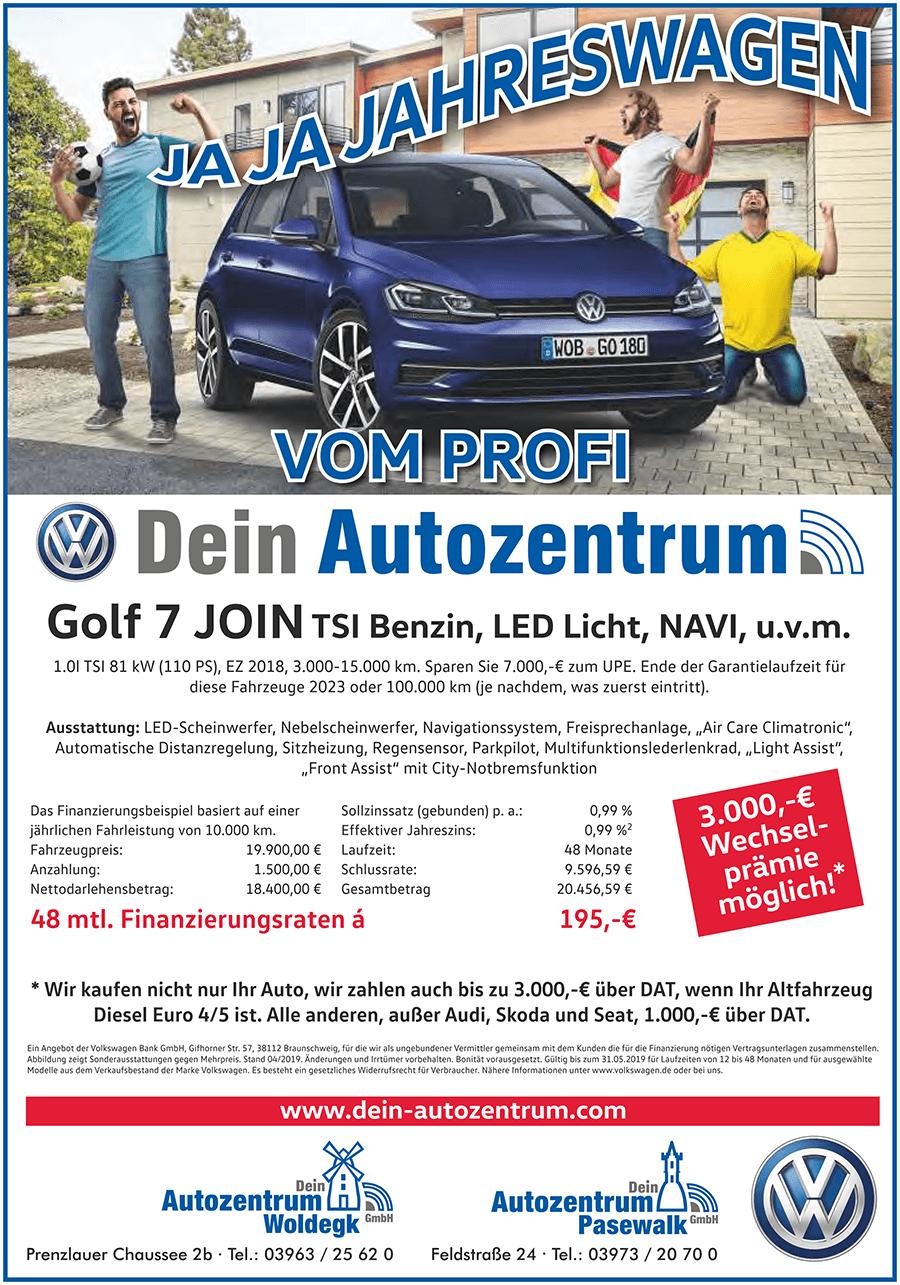 Jahreswagen VW Golf 7 Join
