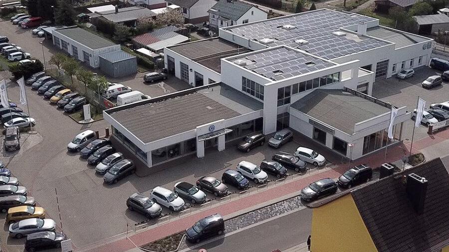 Dein Autozentrum Pasewalk - Luftaufnahme